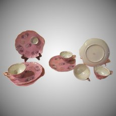 Royal Halsey Pink Luster Luncheon Sets - b258