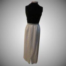 Velvet Above Brocade Dress