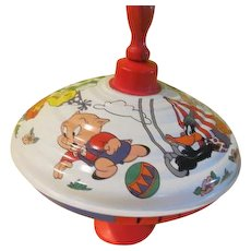 Loony Toons Warner Bros Metal Spin Top - b268