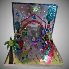 Fold Flat Metal Nativity Set - x-18