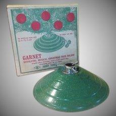 Garnet Handy Things Revolving Musical Christmas Tree Stand in Box - b