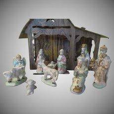 Cardboard Creche Nativity Set = x-18