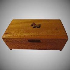 Wood Box with Scottie Dog - b259