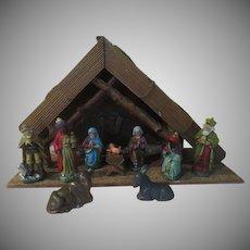 """Silent Night"" Music Box Nativity Set - bx18"