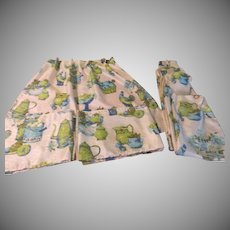 Fruity Kitchen Kitsch Pinch Pleated Cafe Curtains and Valance - b259
