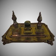 Flame Topped Ink Bottles on Tray - b259