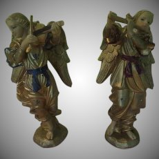 Large Gilded Angel Musicians - xb18