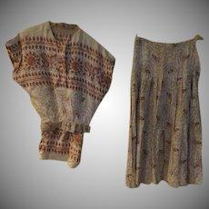 Paisley 2 Piece skirt set
