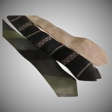 Skinny Stripe, Black and Beige Tie Wardrobe - Free shipping - b272