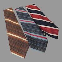 Wide Stripe Ties - Free shipping - b272