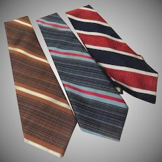 Wide Stripe Ties - Free shipping - b272
