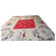 Folksy Print Tablecloth - b265
