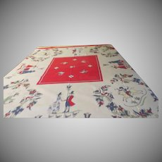 Folksy Print Tablecloth - b265
