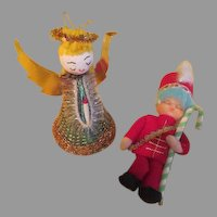 Angel and Soldier Christmas Tree Ornaments - b268
