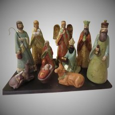 Gold Accented Nativity Set - b270