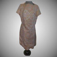 Gold Thread on Peach Skimmer/dress