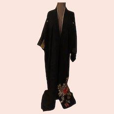 Magnificent Embroidered Crane Kimono
