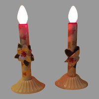 Foil Wrapped Electrified Christmas Candles - b268