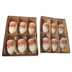 West German Santa Face Christmas Tree Ornaments - 267