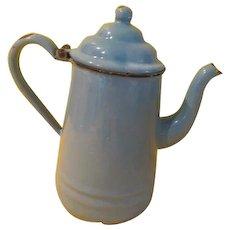 Heavenly Blue Enamel Coffee Pot - b268