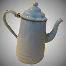Heavenly Blue Enamel Coffee Pot - b268