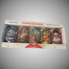 Jewel Brite Diorama Christmas Tree Ornaments - b266
