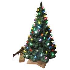 Ever Green Lighted Ceramic Christmas tree