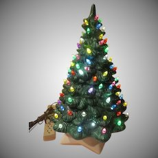 Ever Green Lighted Ceramic Christmas tree