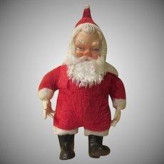 Plush Black Boot Santa