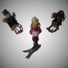 Clip-on Girl and Chenille Figures Christmas tree Ornaments - x-b-18