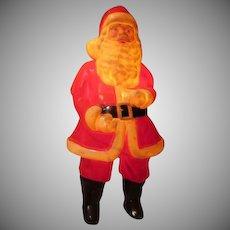 Lighted Black Boot Santa