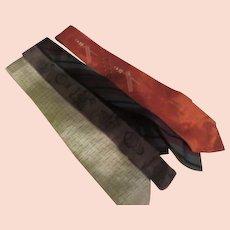 Skinny Stripe, brown, orange and stripe Ties - Free shipping - b273