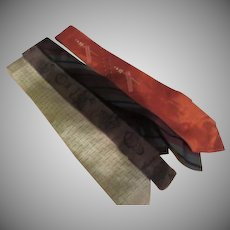 Skinny Stripe, brown, orange and stripe Ties - Free shipping - b273