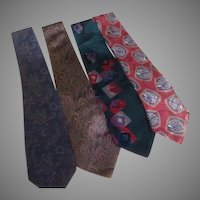 Italian Silk Teal Green and Red Ties - Free shipping - b273