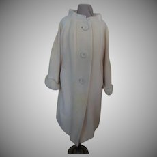 Wool Mohair Winter White Coat