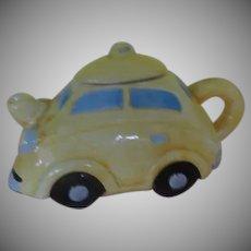Tiny Yellow Taxi Tea Pot - b270