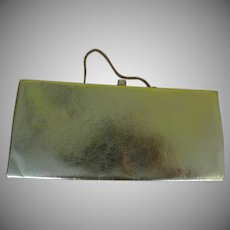 Gold Lame Clutch Handbag Purse