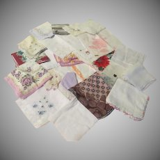 Colorful Assortment of Hankies #1 - Free shipping - b273