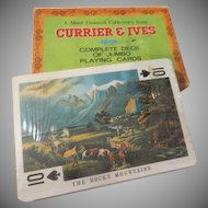 Currier and Ives Jumbo Playing Cards - b274