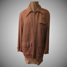 Gaberdine 50's Zip Front Jacket