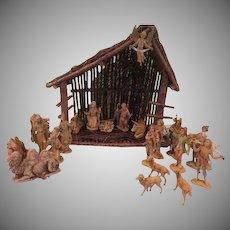 Large Italian 24 piece Set Nativity