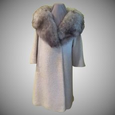Fabulous Fur Collar Boucle Coat