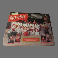 Animated Mr. Christmas Deck the Fence in Box