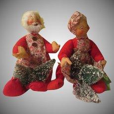 Santa and Mrs Clause Annalee Dolls = b276