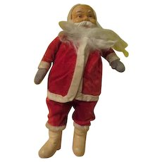 Plush White Boot Santa