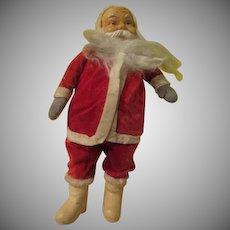 Plush White Boot Santa