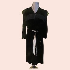 Black Velvet and Lace Opera Coat