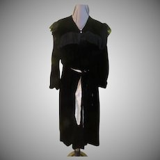 Black Velvet and Lace Opera Coat