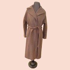 Wide Lapel Wrap Coat