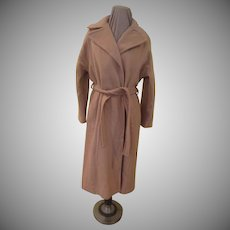 Wide Lapel Wrap Coat